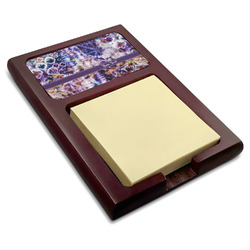 Tie Dye Red Mahogany Sticky Note Holder (Personalized)