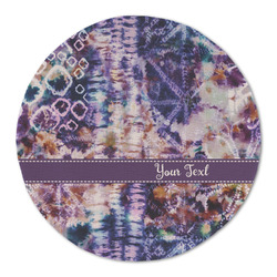Tie Dye Round Linen Placemat (Personalized)