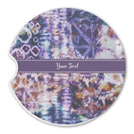 Tie Dye Sandstone Car Coasters (Personalized)