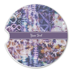 Tie Dye Sandstone Car Coasters (Personalized)
