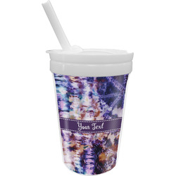 Tie Dye Sippy Cup with Straw (Personalized)