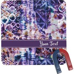 Tie Dye Square Fridge Magnet (Personalized)