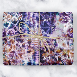 Tie Dye Wrapping Paper (Personalized)