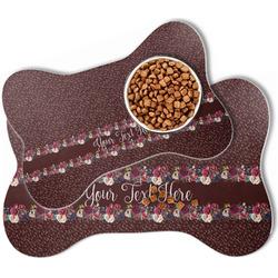 Boho Bone Shaped Dog Food Mat (Personalized)