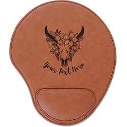 Boho Leatherette Mouse Pad with Wrist Support (Personalized)