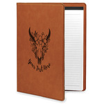 Boho Leatherette Portfolio with Notepad (Personalized)