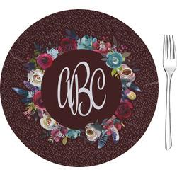 "Boho 8"" Glass Appetizer / Dessert Plates - Single or Set (Personalized)"