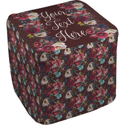 Boho Cube Pouf Ottoman (Personalized)