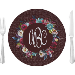 "Boho 10"" Glass Lunch / Dinner Plates - Single or Set (Personalized)"