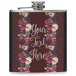 Boho Genuine Leather Flask (Personalized)