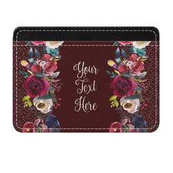 Boho Genuine Leather Front Pocket Wallet (Personalized)