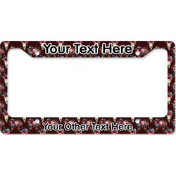 Boho License Plate Frame (Personalized)