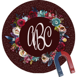 Boho Round Fridge Magnet (Personalized)