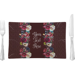Boho Rectangular Glass Lunch / Dinner Plate - Single or Set (Personalized)