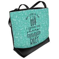 Dental Hygienist Beach Tote Bag (Personalized)