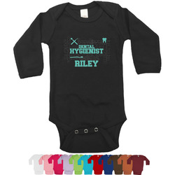 Dental Hygienist Long Sleeves Bodysuit - 12 Bodysuit Colors (Personalized)
