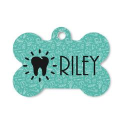 Dental Hygienist Bone Shaped Dog Tag (Personalized)