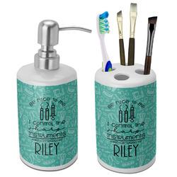 Dental Hygienist Bathroom Accessories Set (Ceramic) (Personalized)