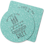Dental Hygienist Rubber Backed Coaster (Personalized)