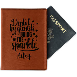 Dental Hygienist Leatherette Passport Holder (Personalized)