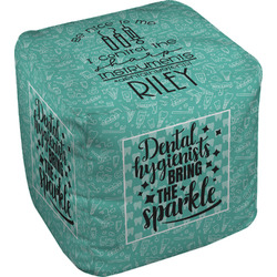 Dental Hygienist Cube Pouf Ottoman (Personalized)