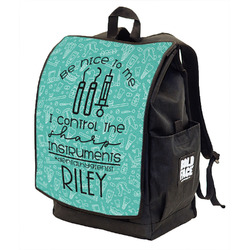 Dental Hygienist Backpack w/ Front Flap (Personalized)