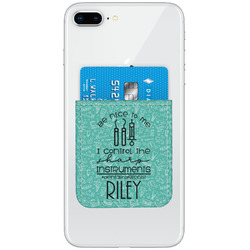 Dental Hygienist Genuine Leather Adhesive Phone Wallet (Personalized)