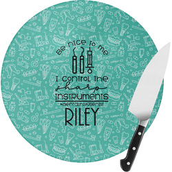 Dental Hygienist Round Glass Cutting Board (Personalized)