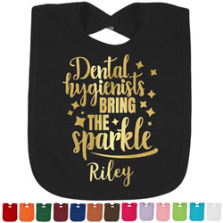 Dental Hygienist Foil Baby Bibs (Personalized)