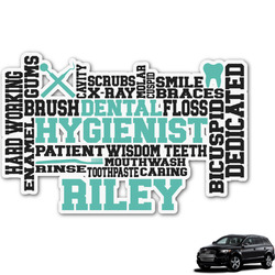 Dental Hygienist Graphic Car Decal (Personalized)