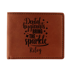 Dental Hygienist Leatherette Bifold Wallet (Personalized)