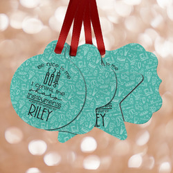 Dental Hygienist Metal Ornaments - Double Sided w/ Name or Text
