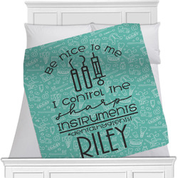 Dental Hygienist Minky Blanket (Personalized)