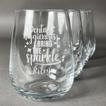 Dental Hygienist Stemless Wine Glasses (Set of 4) (Personalized)
