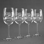 Dental Hygienist Wine Glasses (Set of 4) (Personalized)