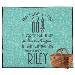 Dental Hygienist Outdoor Picnic Blanket (Personalized)