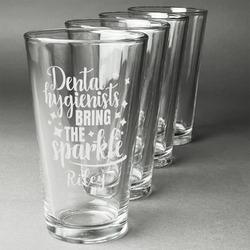 Dental Hygienist Beer Glasses (Set of 4) (Personalized)