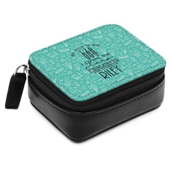 Dental Hygienist Small Leatherette Travel Pill Case (Personalized)