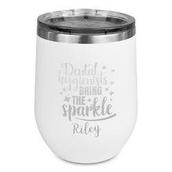 Dental Hygienist Stemless Stainless Steel Wine Tumbler (Personalized)