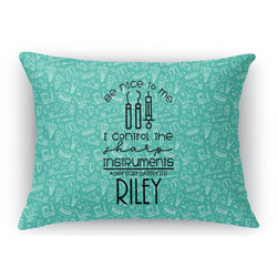Dental Hygienist Rectangular Throw Pillow Case (Personalized)