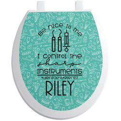 Dental Hygienist Toilet Seat Decal (Personalized)