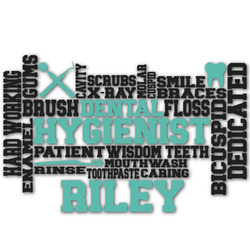 Dental Hygienist Graphic Decal - Custom Sizes (Personalized)