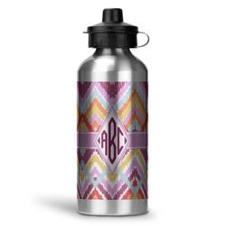 Ikat Chevron Water Bottle - Aluminum - 20 oz (Personalized)