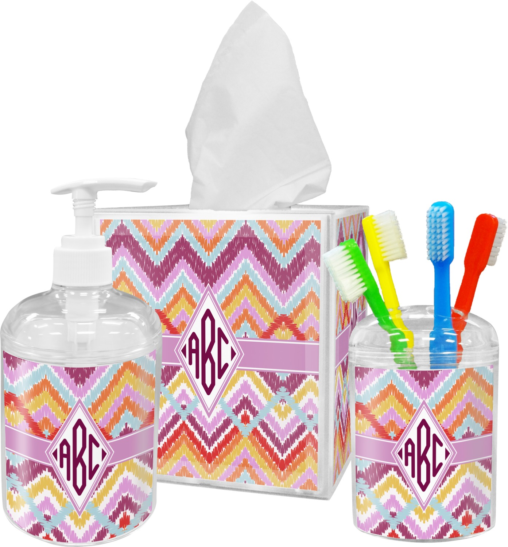 chevron bathroom set. Patterns For Girls Chevron Ikat Bathroom Accessories Girl Bathrooms