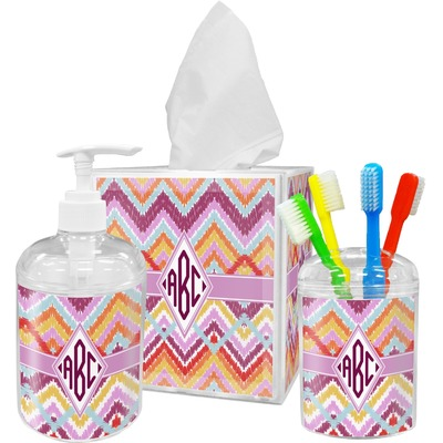 ikat chevron bathroom accessories set personalized you customize