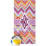 Ikat Chevron Beach Towel (Personalized)