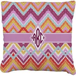 Ikat Chevron Faux-Linen Throw Pillow (Personalized)