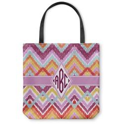 Ikat Chevron Canvas Tote Bag (Personalized)