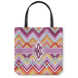 "Ikat Chevron Canvas Tote Bag - Small - 13""x13"" (Personalized)"