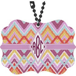 Ikat Chevron Rear View Mirror Decor (Personalized)